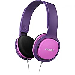 Philips Kinderkopfhörer SHK2000PK/00 Kinderkopfhörer On Ear (Geräuschisolierung, Lautstärkebegrenzung, Ergonomischer Bügel, 32-mm-Neodym-Lautsprechertreiber) Pink/Lila