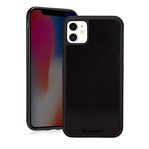 Wingcases for iPhone 11 Case 6.1 inch, Anti Gravity Suction Stick on The Mirror Glass Flat Smooth Surface Selfie Cover with Dust Proof Film