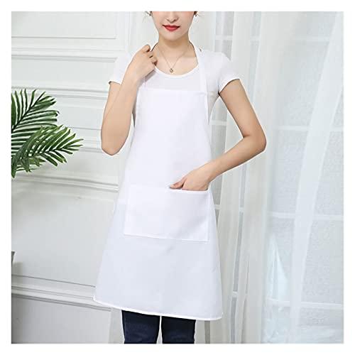 WZWS Apron for Vattentät olja Matlagning Förkläde Kock Förkläden För Kvinnor Män Kök Bib Förkläde Idé för diskmaskin Rengöring Målning Snabb leverans (Color : White)