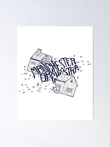"""Manchester Orchestra Poster 12.75"""" X 17"""" Inch No Frame Board for Office Decor, Best Gift Dad Mom Grandmother and Your Friends"""