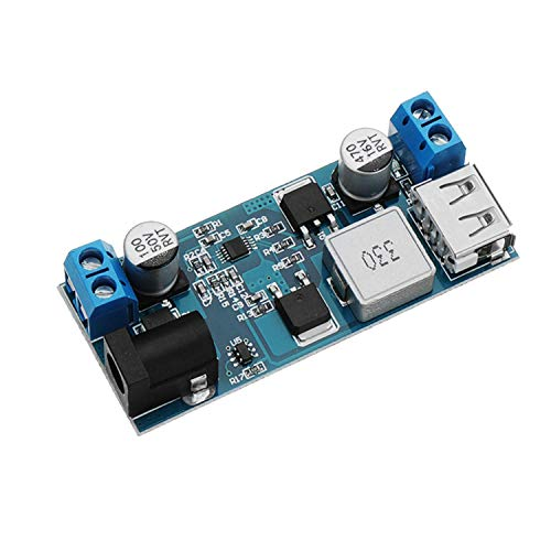 ICQUANZX DC 6V 9V 12V 24V a DC 5V 5A Módulo convertidor Reductor, 9-36V Paso a USB Transformador 5V Tablero regulador de Voltaje de Salida Dual