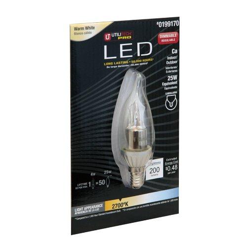 Utilitech 0199170 Pro 4-Watt (25W) Warm White (2700K) Decorative LED Bulb