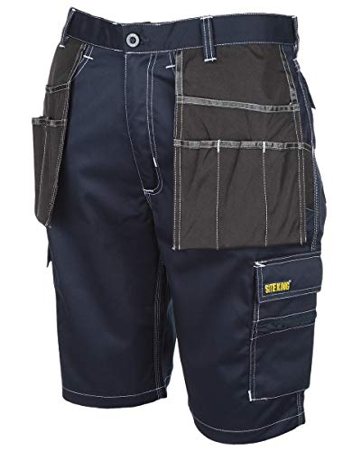 SITE KING Mens Holster Pocket Cargo Combat Work Shorts Size 30 to 44 Heavy...