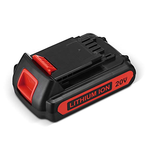 LBXR20 Replacement for Black and Decker 20V 2.5Ah Lithium Battery Max LB20 LBX20 LBXR20-OPE LBXR2020-OPE LB2X4020-OPE LBXR20B-2 LST220 Cordless Power Tool 1 Pack