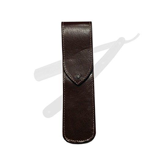 Rasiermesser Etui unbestückt - Leder braun - Dovo Solingen - 4671