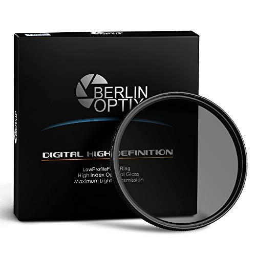 Berlin Optix Variabler Premium CPL Pol Filter 55mm ∙ Zirkularer Polarisationsfilter für hohe Bildqualität ∙ Klare Entspiegelung Ihrer Aufnahmen