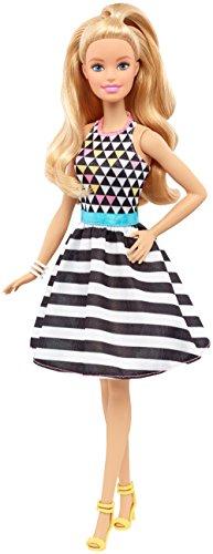 Barbie - Fashionista, muñeca con Vestido de Rayas (DVX68