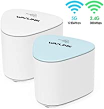 WAVLINK AC2100 Dual-Band Mesh WiFi Router and Extender Kit for Whole Home Mesh WiFi System, Up to 4,000 sq. ft. Coverage, 2-Pack(1 Router + 1 Extenders)