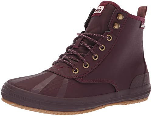 Keds Women's Scout Boot Splash Twill WX Sneaker, Burgundy, 6.5 M US