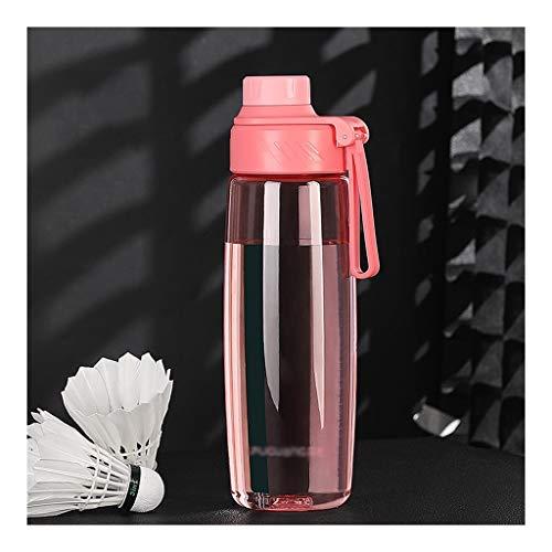 Botella de agua deportiva de 680 ml/880 ml, botella grande libre de BPA, frasco deportivo a prueba de fugas, ideal para deportes, correr, senderismo (color rosa, tamaño: 680 ml)