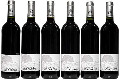 Vino tinto cosechero Vinos Tinto Recomendado Los Corzos Pack de 6 botellas de 750 ml - Total: 4500 ml