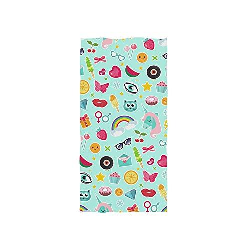 Uni-Corn Rainbow Lips Toallas Baño Secado Rápido Toalla De Playa Personalizada Toallas De Baño Impreso Toalla De Piscina