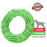 Updated Ultra Durable Dog Chew Toys for Aggressive Chewers - Lifetime Replacement Guarantee - Indestructible Natural Rubber Dog Toys - Tough Strong Tug of War Dog Toys for Large Medium Dogs (6.5 Inch)