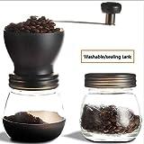 KAISIMYS Handheld Coffee Grind Maker Gewürzmühle Einstellbare Keramikmühle Tragbare Kaffeebohnenmühle, geräuscharm, mit versiegelter Dose, ideal für Zuhause, Büro, Outdoor, Reisen