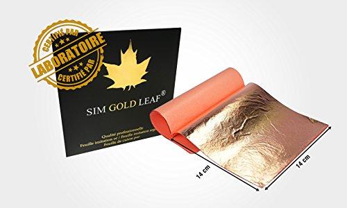 Sim Gold Leaf 10/gro/ße Silver Leaf Pur 100/% 95/x 95/mm Notizbuch 10St Transfer