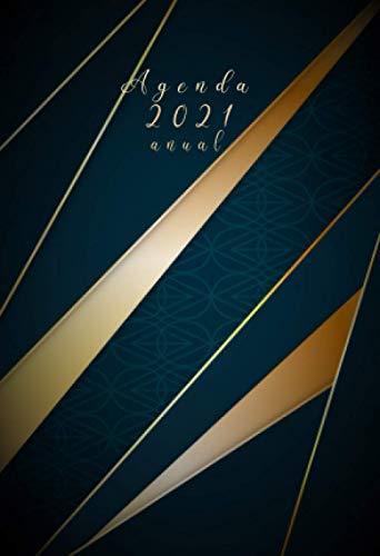 Agenda 2021 anual: agenda semana vista 2021 A6 |12 meses enero a diciembre 2021 - español| Planificadora diaria y mensual , planner para hombre y mujer calendario bolsillo