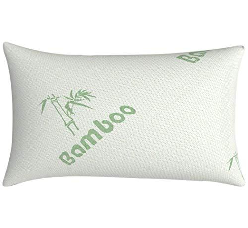 Bambú fresco almohada ortopédica para dolor de cuello, refrigeración anti ronquidos almohadas para dormir, Flake triturado de espuma, hipoalergénico