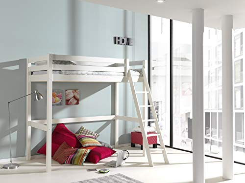 Vipack Pino Lit mezzanine 90x200 Blanc