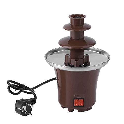 WCJ Fuente de Chocolate Fondue de Chocolate Fuente, Hogar Mini eléctrico casero de fusión del Chocolate Torre de Tres Capas Cascada Máquina