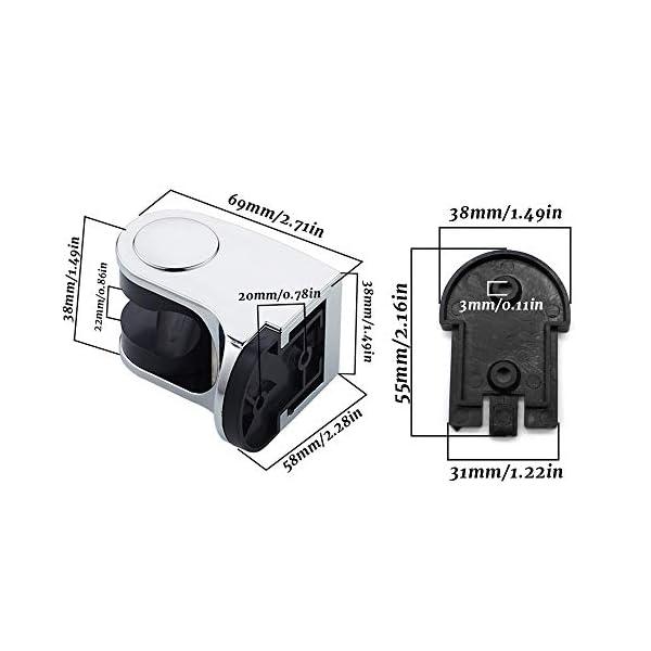 PEAK-EU 2 Pcs Soporte de Ducha de Mano de Repuesto Para el Baño en Casa de Alcachofa de Ducha de 19 – 25 mm de Diámetro…