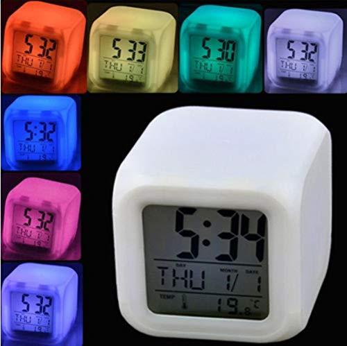 NXSP Snooze-functie nachtlampje op batterijen, Touch Control LED Digitale Recording slaapkamer groot display wekker