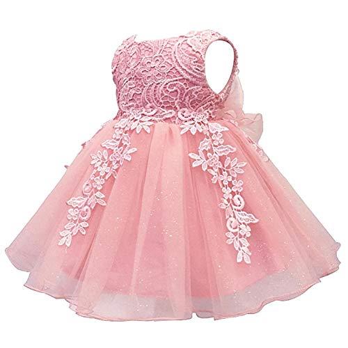 IBTOM CASTLE Baby Mädchen Prinzessin Kleid Blumenmädchenkleid Taufkleid Festlich Hochzeit...