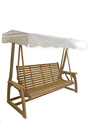 Antike Fundgrube Hollywoodschaukel 4-Sitzer aus Teakholz | Gartenschaukel Gartenmöbel | B: 235 cm (4538)