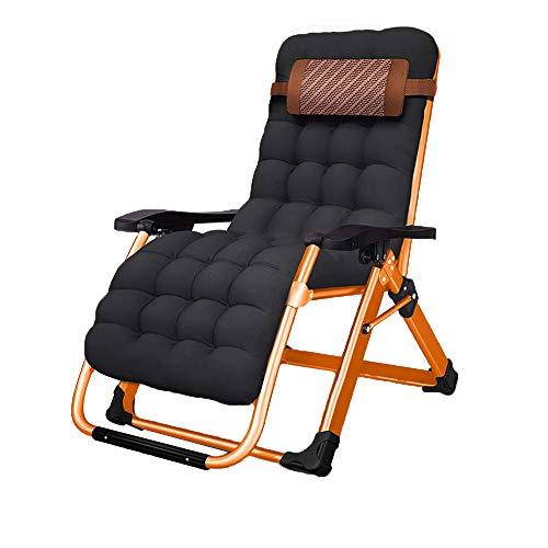 FUFU Deckchairs Outdoor Folding Chaise Lounge Stuhl für Strand, Sonnenbaden, Terrasse, Pool, Rasen, Deck, Tragbares leichte Schwergewicht, Verstellbarer Camping-Liegestuhl mit Kissen, Klappbar