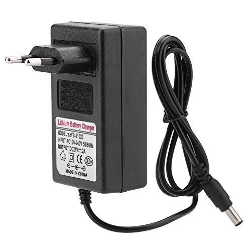 LED-Lithium-Ionen-Ladegerät, AC 100-240V DC 21V 2A Ladegerät, Netzteil-Adapter für Scheinwerfer, Spielzeugauto, Balance Car(EU Plug)