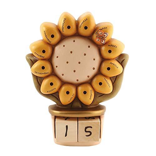 THUN - Calendario Perpetuo da Tavolo - Living, Oggetti Decorativi per la Casa - Idea Regalo - Linea Country - Ceramica - 21,5 x 26,5 cm