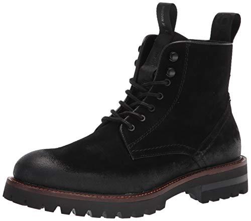 Steve Madden Men's MACKEE Combat Boot, Black Suede, 10