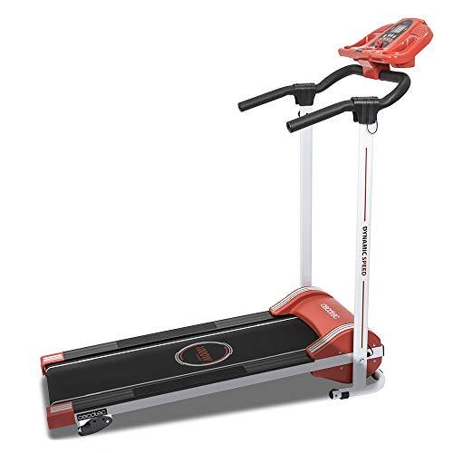 Cecotec Cinta de Andar RunnerFit Step Red Series. 1000 W, 12 programas predefinidos, Pantalla LED, 10 Km/h, con Altavoces y Sistema Seguridad magnético, Plegable