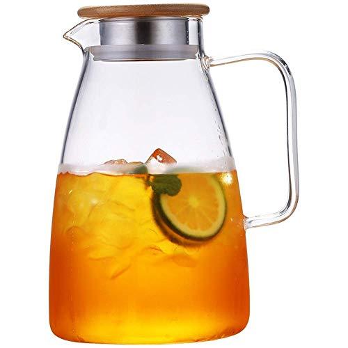 GLXLSBZ Botella de Vidrio Resistente a la Temperatura fría del hogar de 2L de té y Deje Enfriar la Taza de Espuma a Granel del Enfriador de Agua hervida