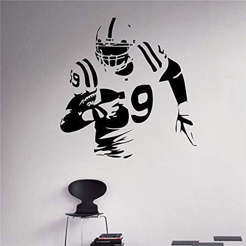 57 * 60Cm, Wandaufkleber, American Football Wandtattoo Fußballspieler Innenwandbilder Haushaltswaren Vinyl Graphiremovable Home Room Größe:56 * 54cm