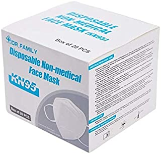Disposable KN95 Face Masks on the FDA EUA List, Non-Woven 5-Layer Disposable Mask, Elastic Ear Loops, Adjustable Nose Wire...