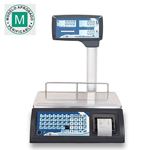 Baxtran RTI30 Balance commerciale avec tickets 30 kg x 10 g 36 x 23 cm Double pesée