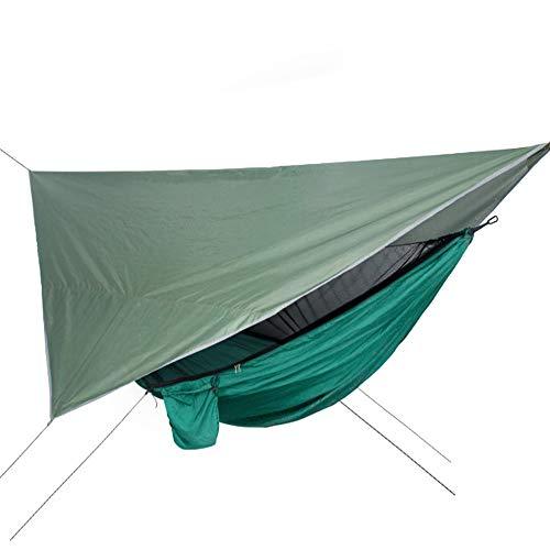 Moskitonetz Baldachin Hängematte Integrierte Wasserdichte Sonnenschutz Anti-Moskito Hängematte Camping Camping Hängematte