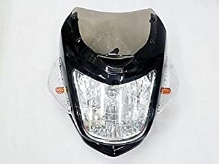 BADASS SHARKS Motorcycle Black Streetfighter Nake Bike headlight Cafe Racer Custom Ducati for Suzuki Honda Yamaha Kawasaki