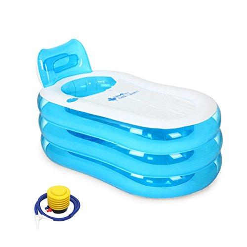 LJF bain gonflable Baignoire gonflable simple Baignoire pour la maison pour adultes Baignoire en plastique pour enfants ( couleur : Bleu )