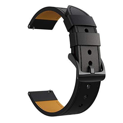 FAAGFC Para Huawei Watch GT 2E Correa de cuero genuino Gt2e 22 mm Correa de reloj pulsera de lujo Pмек (color de la correa: negro, ancho de la correa: 22 mm)