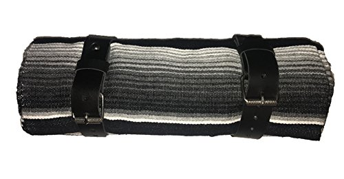 Serape roll up Blanket with Leather Strap for Harley Davidson