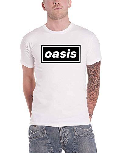 Oasis T Shirt Classic Decca Band Logo Nuevo Oficial De Los Hombres