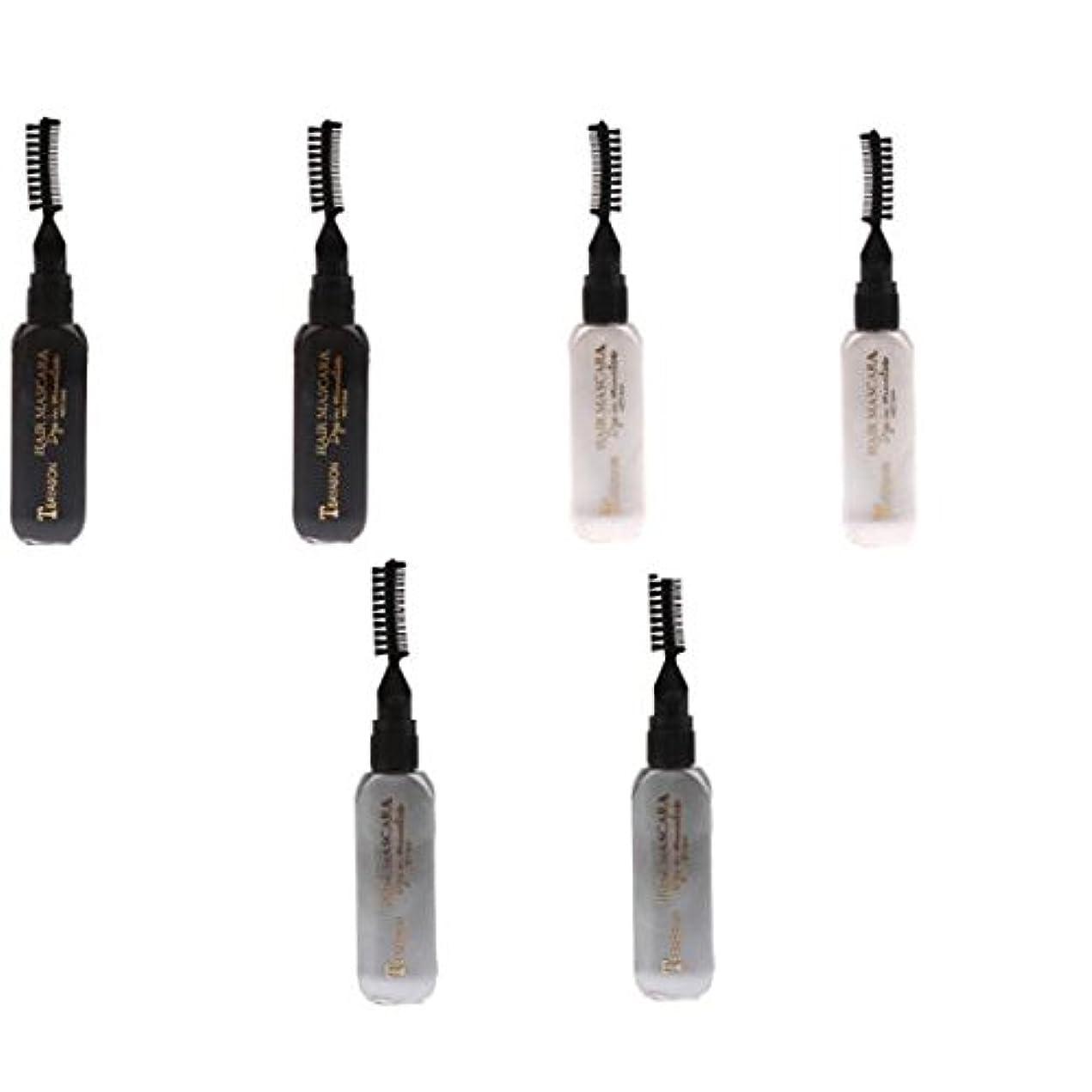 シール解決商品Perfk ディスポーザブル ヘアカラー マスカラ カラーチョーク 染料 ティント ハイライト マスカラ 6個
