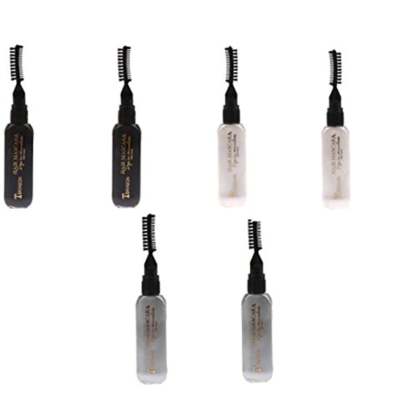 影響を受けやすいです吸う伸ばすKesoto ディスポーザブル ヘアカラー マスカラ カラーチョーク 染料 ティント ハイライト マスカラ テンポラリー 6個