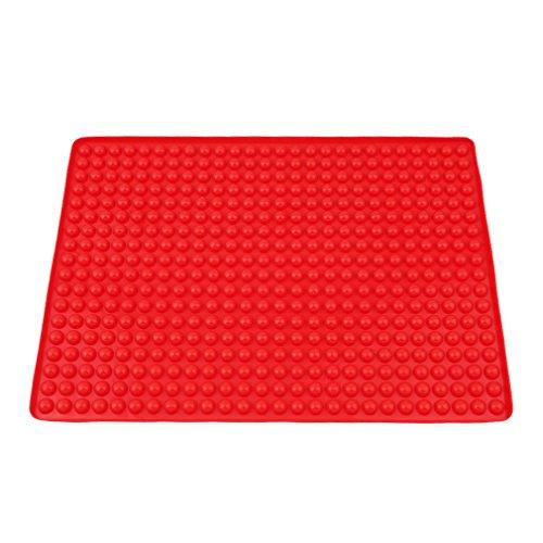 HENGSONG, tovaglietta in silicone per uso come base di cottura, carta da forno o per la stesura di impasti e pasta