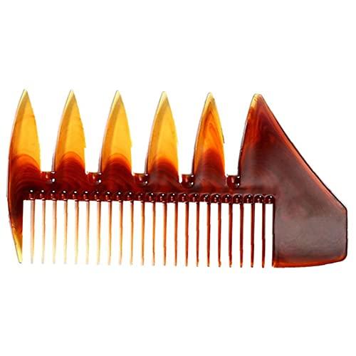 Hommes pétrole peigne mini dent large peigne à dents huile double face coiffure peigne peigne lissage de cheveux antistatiques pour coiffures ambre