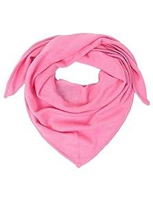 Zwillingsherz Dreieckstuch aus 100% Kaschmir - Hochwertiger Schal im Uni Design für Baby-s Jungen und Mädchen - Cashmere XXL Hals-Tuch und Damenschal - Strick-Waren für Sommer und Winter rosa