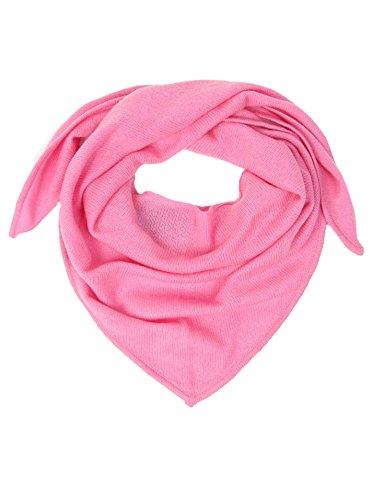 Zwillingsherz Zwillingsherz Dreieckstuch aus 100% Kaschmir - Hochwertiger Schal im Uni Design für Baby-s Jungen und Mädchen - Cashmere XXL Hals-Tuch und Damenschal - Strick-Waren für Sommer und Winter rosa