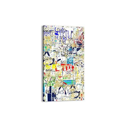 Quadro su tela - Elemento unico - Strada graffiti parete murale - 65x120cm - Pronto da appendere - Home Decor - Stampe su Tela - Quadri Moderni - completamente incorniciato - PA65x120-2907
