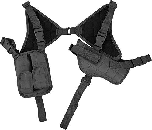 Pistolenholster Cordura Schulterholster verstellbar mit Magazintaschen Farbe Black